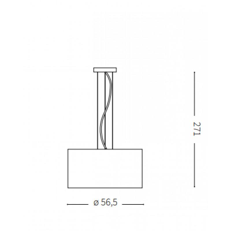 Pendant lamp WHEEL SP5 Ø 56,5 cm