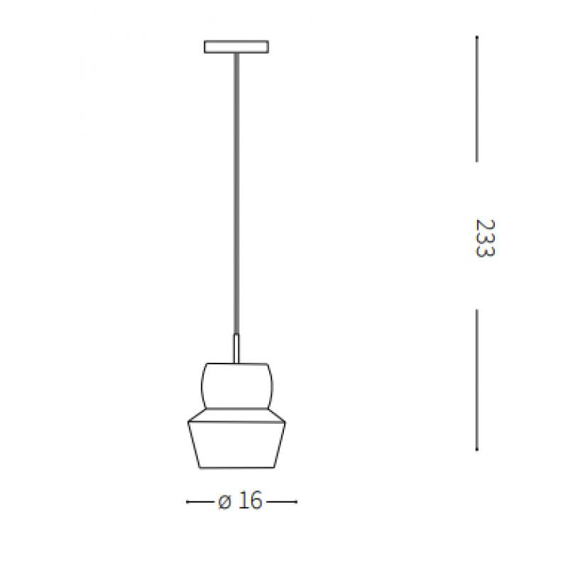 Pendant lamp ZENO SP1 SMALL Ø 16 cm