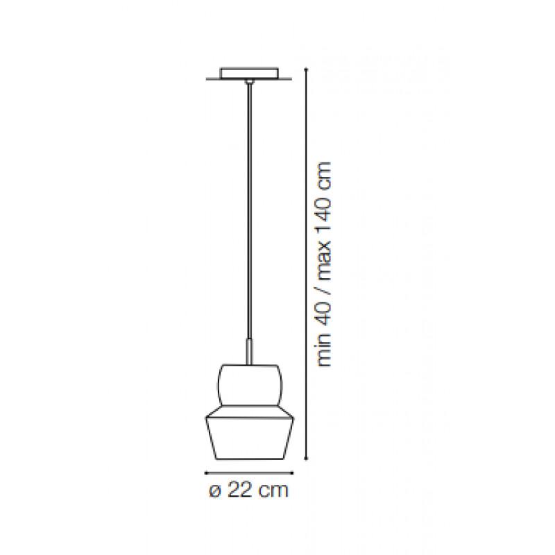 Pendant lamp ZENO SP1 BIG Ø 22 cm