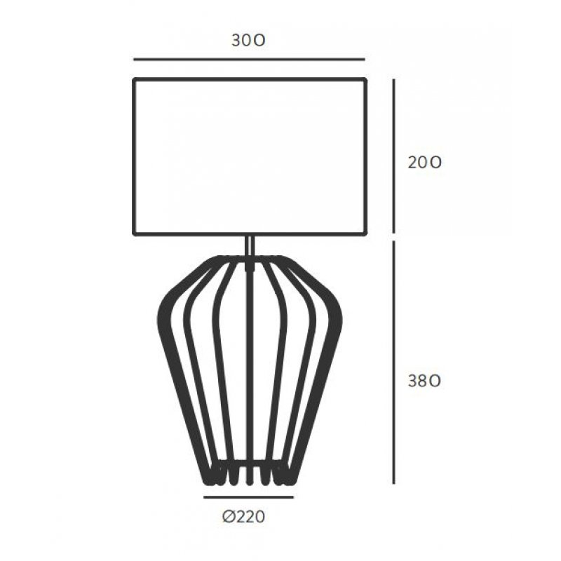 Table lamp Ecletic Black/White