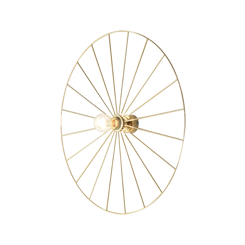 Wall lamp Wheel Gold/Chrome