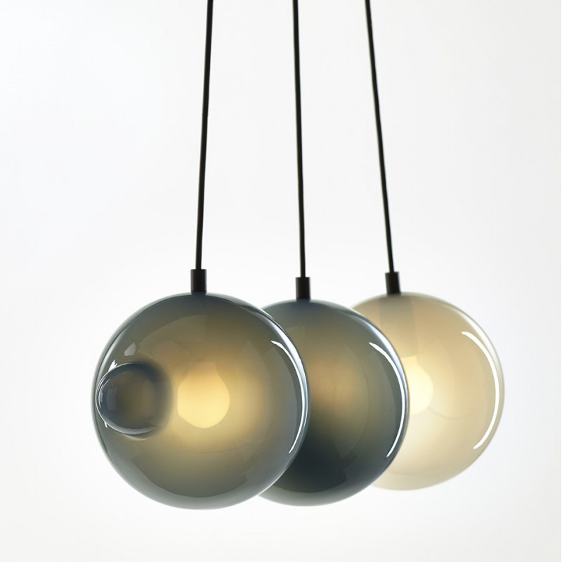Pendant lamp PENDULUM 5 POSITION PIGEON BLUE & LIGHT GREY