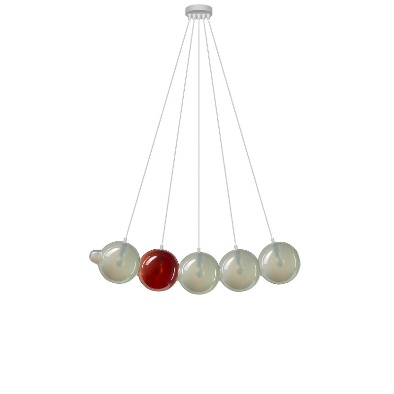 Pendant lamp PENDULUM 5 POSITION LIGHT GREY & ...
