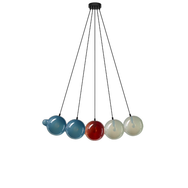 Pendant lamp PENDULUM 5 POSITION BLUE & RED &a...