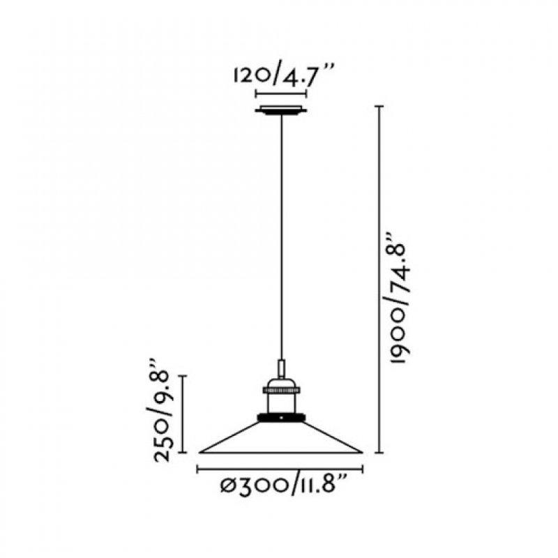Pendant lamp HALITA Ø 30 см