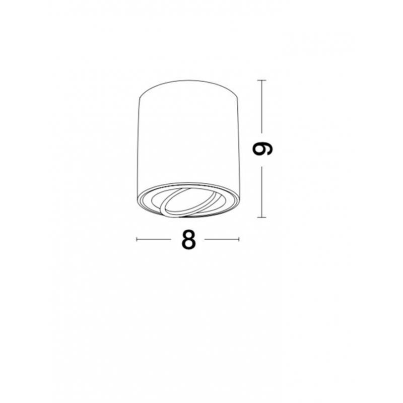 Surface lamp GOZZANO Ø 8 cm