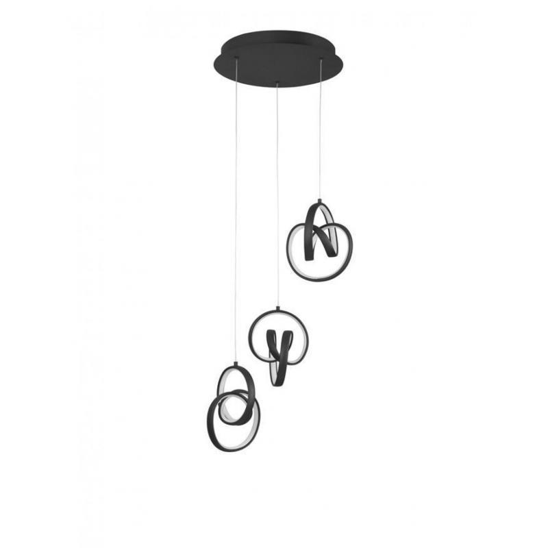 Pendant luminaires RINGS BLACK Ø 34 см