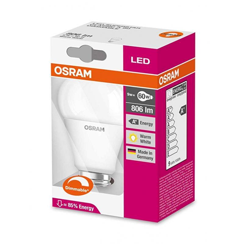 Bulb E27 9W 2700K OSRAM LEDVANCE LED PARATHOM CL A FR 60 DIM 9W/827 E27