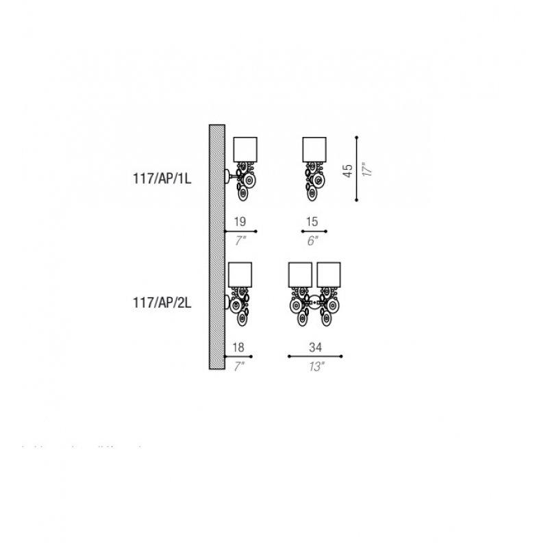 Wall lamp 117/AP/1L