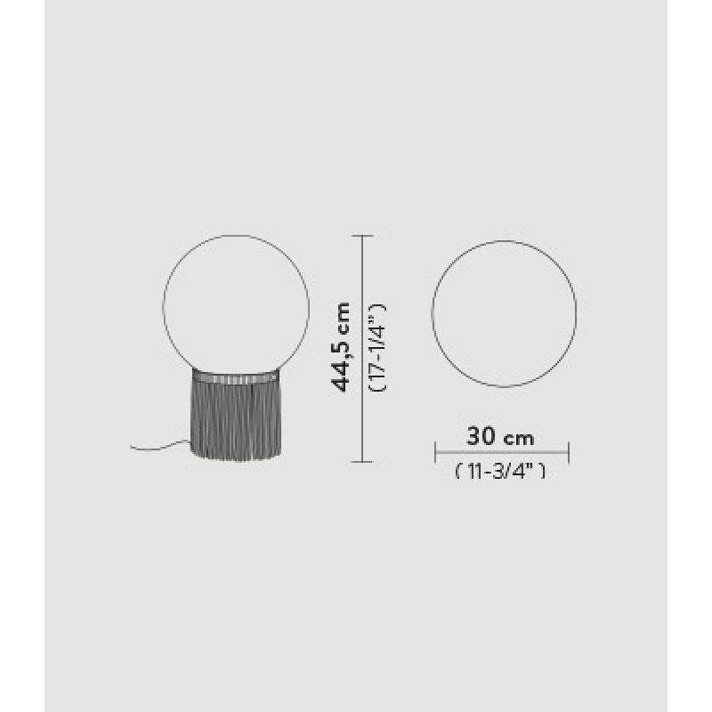 Table lamp ATMOSFERA FRINGLE Ø 30 см