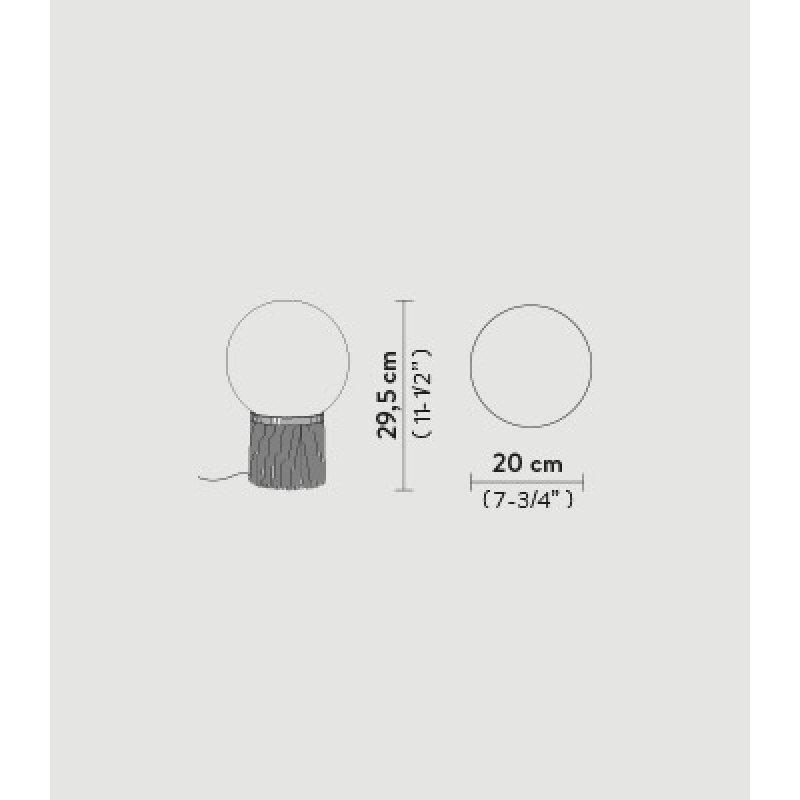 Table lamp ATMOSFERA FRINGLE SMALL Ø 20 cm