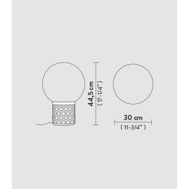 Table lamp ATMOSFERA Ø 30 см