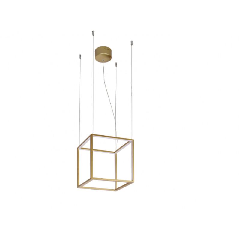 Pendant lamp GOLD- CUBE 40 x 40 cm